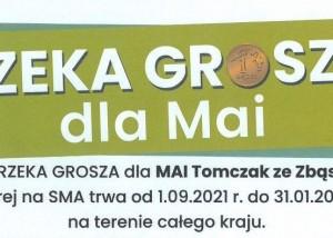 Fragment plakatu Rzeka Grosza dla Mai.