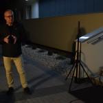 Zdjęcie zostało zrobione przed CKIB - na schodach. Jest to ujęcie z Narodowego czytania, na zdjeciu Dyrektor CKiB Krzysztof Sadowski